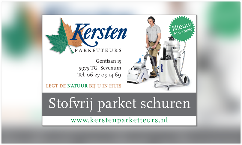 Advertentie Kersten Parketteurs