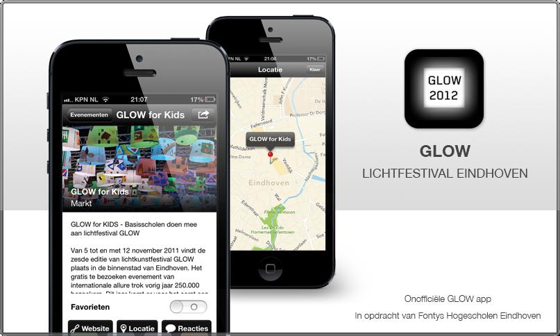 iPhone app Lichtfestival GLOW