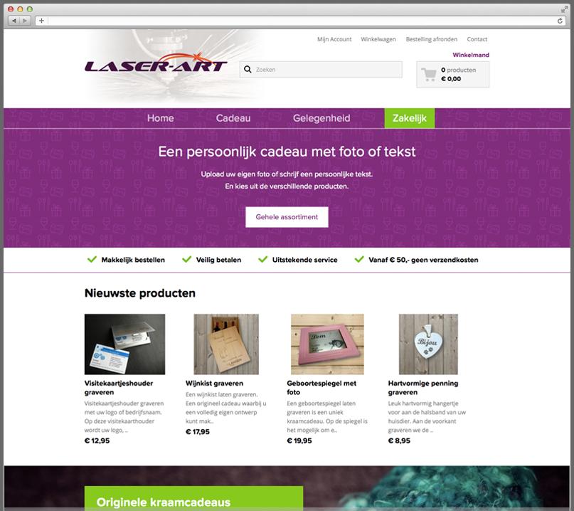 Webshop Laser-Art